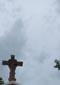 Cross above